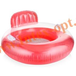 INTEX 56512 Надувной круг-кресло с ручками и сетчатым дном для плавания Candy Color Lounges Ø 102 см(от 8 лет)без насоса