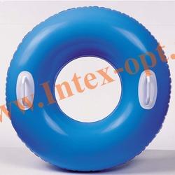 INTEX 59258 Надувной круг для плавания с ручками Hi-Gloss Tubes Ø 76 см(от 8 лет)без насоса