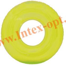 INTEX 59260 Надувной круг для плавания прозрачный Transparent Tubes Ø 76 см(от 8 лет)без насоса