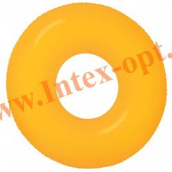 INTEX 59262 Надувной круг для плавания Неоновый Neon Frost Tubes Ø 91 см(от 9 лет)без насоса