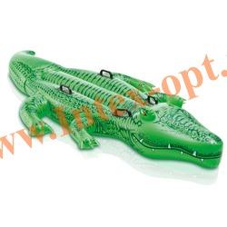 INTEX 58562 Надувной гигантский крокодил для игр на воде Giant Gator Ride-On 203х114 см(от 3 лет)без насоса