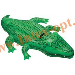 INTEX 58546 Надувной крокодил для игр на воде Lil Gator Ride-On 168х86 см(от 3 лет)без насоса