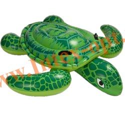 INTEX 56524 Надувная гигантская черепаха для игр на воде Sea Turtle Ride-On 191х170 см(от 3 лет)без насоса