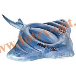 INTEX 57550 Надувной скат для игр на воде Stingray Ride-On 188х145 см(от 3 лет)без насоса