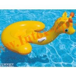 INTEX 56566 Надувной жираф для игр на воде Baby Giraffe Ride-On 132х107 см(от 3 лет)без насоса
