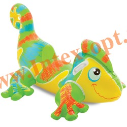 INTEX 56569 Надувной геккон для игр на воде Smiling Gecko Ride-On 138х91 см(от 3 лет)без насоса