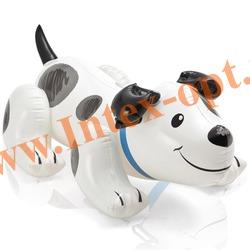 INTEX 57521 Надувной щенок для игр на воде Puppy Ride-On 108х71 см(от 3 лет)без насоса