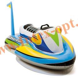 INTEX 57520 Надувной гидроцикл для игр на воде Wave Rider Ride-On 117х77 см(от 3 лет)без насоса