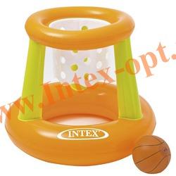 INTEX 58504 Надувной баскетбол для игр на воде Floating Hoops 67х55 см(от 3 лет)без насоса