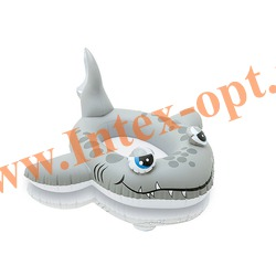 INTEX 59380 Надувной ботик с дном серая акула Pool Cruisers 117х114 см(от 3 до 6 лет)без насоса