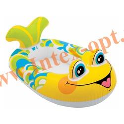INTEX 59380 Надувной ботик с дном рыбка Pool Cruisers 107х69 см(от 3 до 6 лет)без насоса