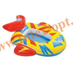 INTEX 59380 Надувной ботик с дном самолётик Pool Cruisers 107х94 см(от 3 до 6 лет)без насоса