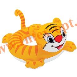 INTEX 58511 Надувной круг с трусиками Тигрёнок See Me Sit Riders Baby Float 94х81 см(от 3 до 4 лет)без насоса