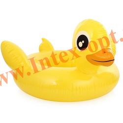 INTEX 58511 Надувной круг с трусиками Утёнок See Me Sit Riders Baby Float 79х79 см(от 3 до 4 лет)без насоса