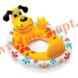 INTEX 59570 Надувной круг с трусиками щенок See Me Sit Pool Rider 74х58 см (от 3 до 4 лет)без насоса