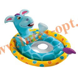 INTEX 59570 Надувной круг с трусиками ослик See Me Sit Pool Rider 77х58 см (от 3 до 4 лет)без насоса