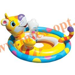 INTEX 59570 Надувной круг с трусиками тигрёнок See Me Sit Pool Rider 77х58 см (от 3 до 4 лет)без насоса
