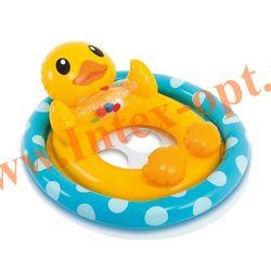 INTEX 59570 Надувной круг с трусиками пингвин See Me Sit Pool Rider 77х58 см (от 3 до 4 лет)без насоса