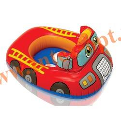 INTEX 59586 Надувной круг с трусиками пожарная машинка Kiddie Floats 74х58 см(от 1 года)без насоса