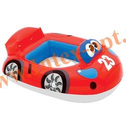 INTEX 59586 Надувной круг с трусиками спортивная машинка Kiddie Floats 70х57 см(от 1 года)без насоса