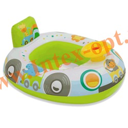 INTEX 59586 Надувной круг с трусиками машинка Kiddie Floats 71х58 см(от 1 года)без насоса