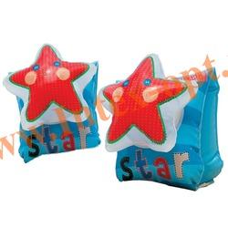 INTEX 56651 Нарукавники надувные для плавания Lil Star Arm Bands 23х15 см(от 3 до 6 лет)