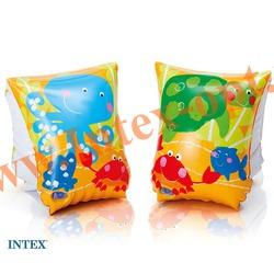 INTEX 58652 Нарукавники надувные для плавания Tropical Buddies Arm Bands 23х15 см(от 3 до 6 лет)