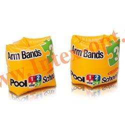 INTEX 56643 Нарукавники надувные для плавания Roll-Up Arm Bands Pool School Step 3 20х15 см(от 3 до 6 лет)