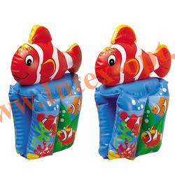 INTEX 56650 Нарукавники надувные для плавания Морская рыбка Glownfish Arm Bands 37х22 см(от 6 до 12 лет)
