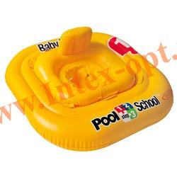 INTEX 56587 Надувной круг с трусиками Deluxe Baby Float Pool School Step 1 79х79 см(от 1 до 2 лет)без насоса