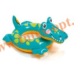 INTEX 58221 Круг надувной для плавания аллигатор Big Animal Rings 71х56 см(от 3 до 6 лет)