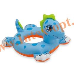 INTEX 58221 Круг надувной для плавания дракончик Big Animal Rings 76х56 см(от 3 до 6 лет)