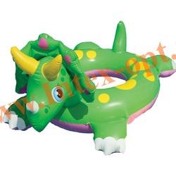 INTEX 58221 Круг надувной для плавания носорог Big Animal Rings 81х56 см(от 3 до 6 лет)