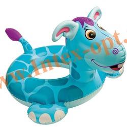INTEX 58221 Круг надувной для плавания ослик Big Animal Rings 76х56 см(от 3 до 6 лет)