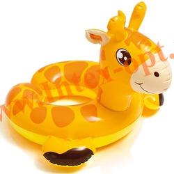 INTEX 59220 Круг надувной для плавания жираф Animal Split Rings 65х64 см(от 3 до 6 лет)