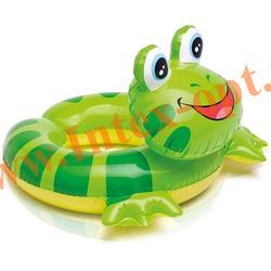 INTEX 59220 Круг надувной для плавания лягушка Animal Split Rings 57х56см(от 3 до 6 лет)