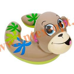 INTEX 59220 Круг надувной для плавания обезьянка Animal Split Rings 57х53 см(от 3 до 6 лет)