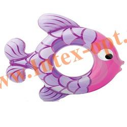 INTEX 59222 Круг надувной для плавания Swim Along Rings 77х76 см(от 3 до 6 лет)