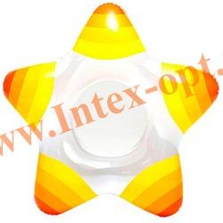 INTEX 59243 Круг надувной для плавания Морская звезда Star Rings 74х71 см(от 3 до 6 лет)