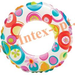 INTEX 59241 Круг надувной для плавания Lively Print Swim Rings Ø 61 см(от 6 до 10 лет)