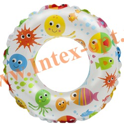 INTEX 59230 Круг надувной для плавания Lively Print Swim Rings Ø 51 см(от 3 до 6 лет)