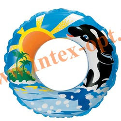 INTEX 58245 Круг надувной для плавания Swim Rings Ø 61 см(от 6 до 10 лет)