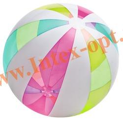 INTEX 59066 Надувной мяч Giant Beach Ball Ø 107 см(от 3 лет)без насоса