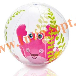 INTEX 58031 Надувной мяч Aquarium Beach Balls Ø 61 см(от 3 лет)без насоса