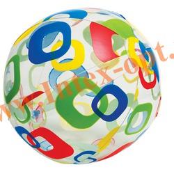 INTEX 59050 Надувной мяч Lively Print Balls Ø 61 см(от 3 лет)без насоса