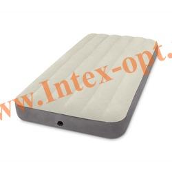 INTEX 64707 Односпальный надувной матрас DELUXE SINGLE-HIGH 99х191х25см