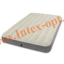 INTEX 64708 Полутороспальный надувной матрас DELUXE SINGLE-HIGH 137х191х25см