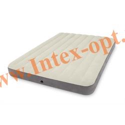 INTEX 64709 Двуспальный надувной матрас DELUXE SINGLE-HIGH 152х203х25см