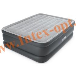 INTEX 64140 Двуспальная надувная кровать ESSENTIAL REST AIRBED 152х203х51см (со встроенным насосом 220 вольт)
