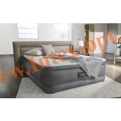 INTEX 64486 Двуспальная надувная кровать PremAir Elevated Airbed 152х203х46см (со встроенным электрическим насосом 220В)